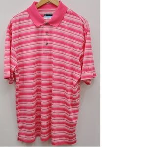 PGA Tour Mens Airflux Golf Polo Shirt Size XL Pink
